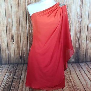 Cache size 0 orange/red dress